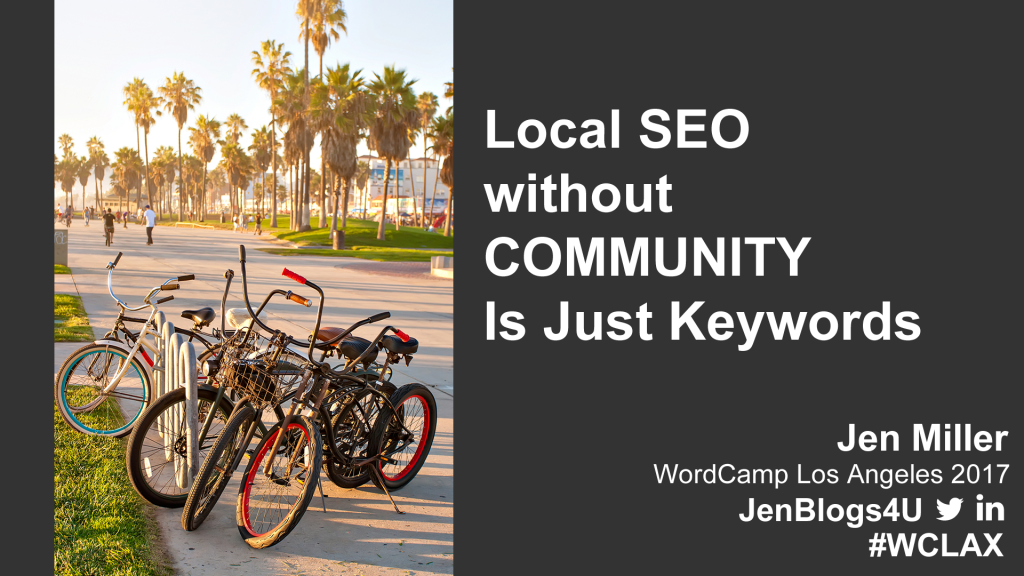 Local SEO without Community is Just Keywords